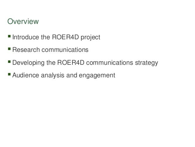 Developing a research project