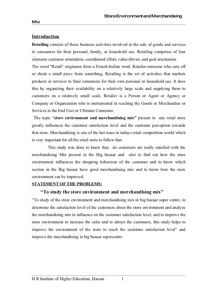 significance importance of big bazaar A study on consumer behaviour towards big bazaar, chennai, drvantony joe raja, journal impact factor (2015): 79270 calculated by gisi (wwwjifactorcom) behaviour.