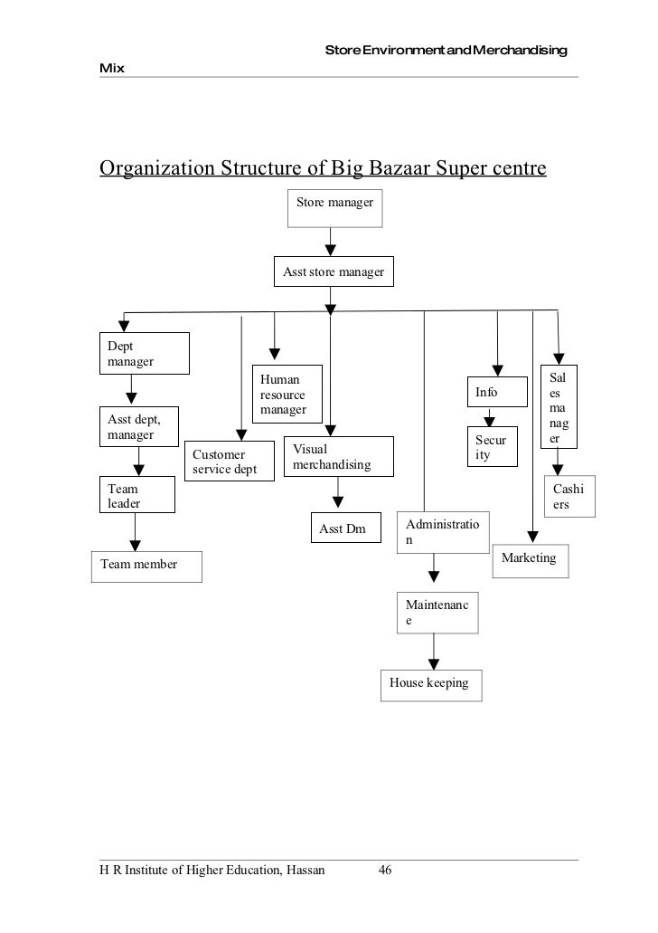 organisational structure of big bazaar essay Arignar anna zoological park  organisational structure, and revenue generation  all the animals, especially the big cats,.