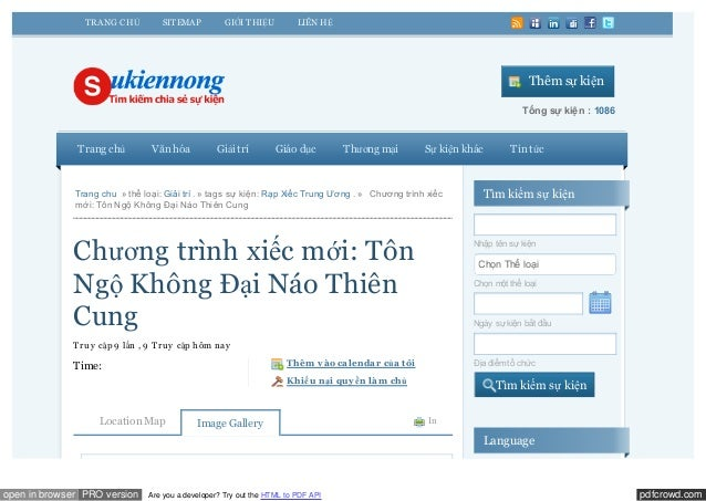 pdfcrowd.comopen in browser PRO version Are you a developer? Try out the HTML to PDF APIThêm sự kiệnTổng sự kiện : 1086Tra...