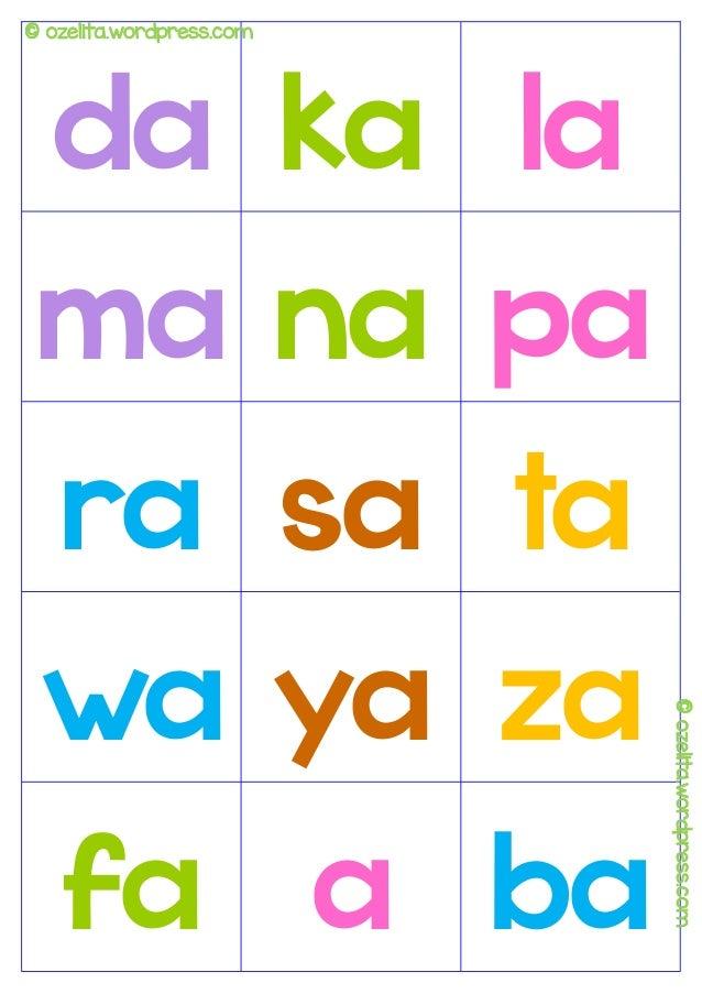 Flash-Karte Belajar Membaca Anak Paud