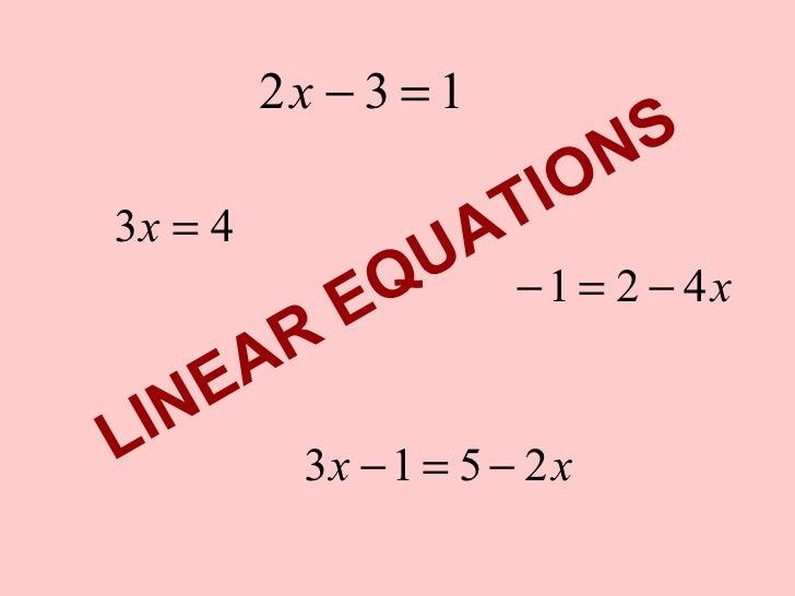 2x − 3 = 1                                N S 3x = 4                  T IO                      U A                E Q    ...