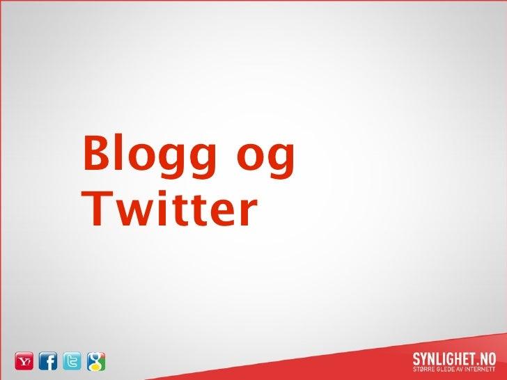 Suldal Vekst Blogg & twitter