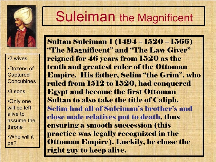 Suleiman the Magnificent laws