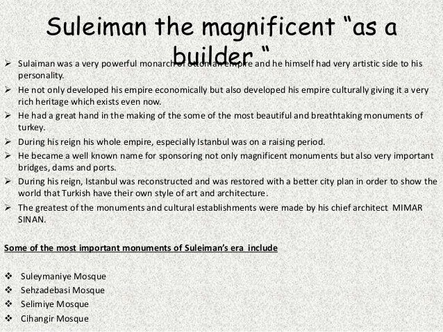 Suleiman the Magnificent personality