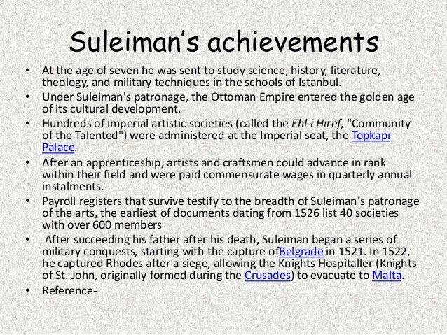 Suleiman the Magnificent achievements