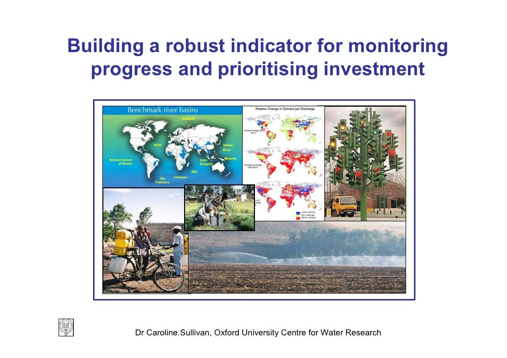 Building a robust indicator for monitoring   progress and prioritising investment                                         ...