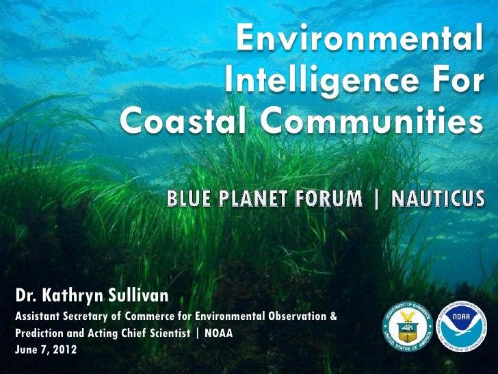 Environmental Intelligence for Coastal Communities