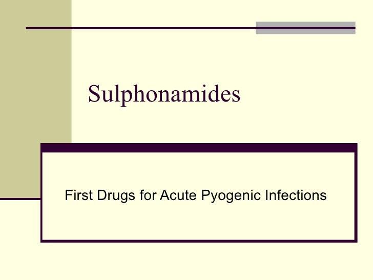 Sulphonamides