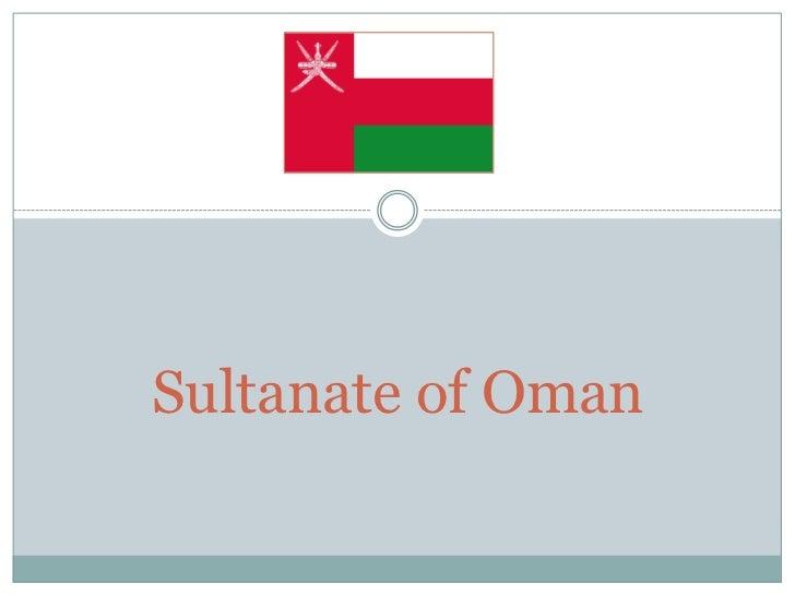 Sultanate of Oman<br />