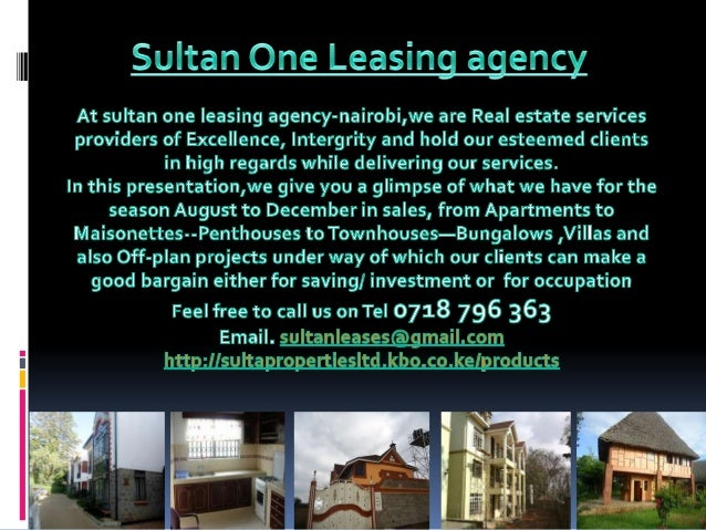 Sultan one leasing power point show-september