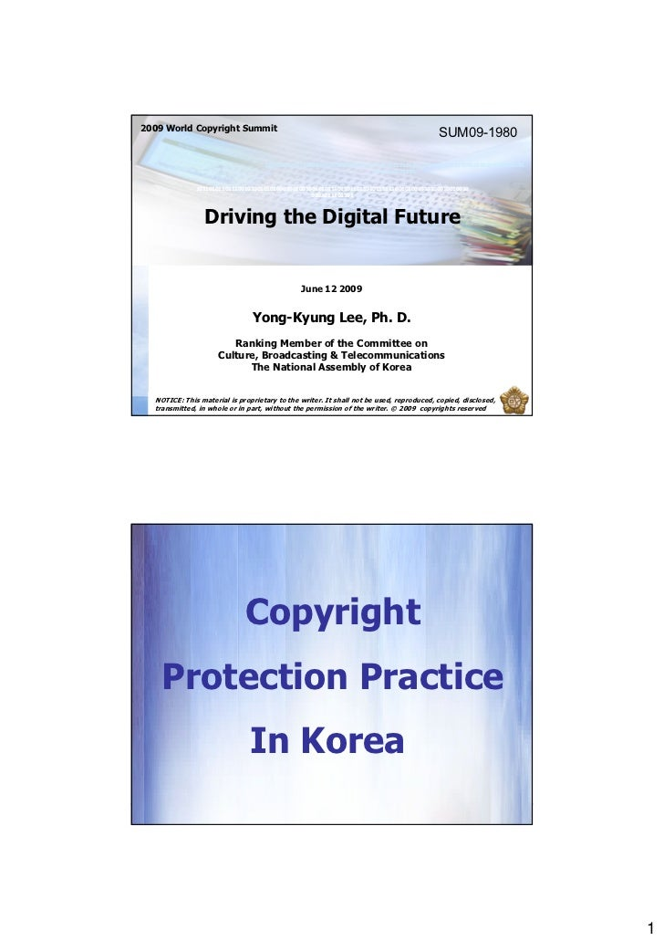 Driving the Digital Future by Yong kyung Lee 2009-11-05