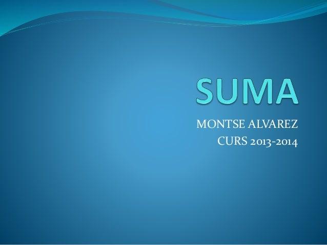 MONTSE ALVAREZ CURS 2013-2014