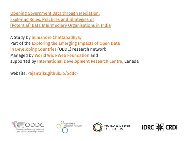 Opening Government Data through Mediation: Exploring Roles, Practices and Strategies of (Potential) Data Intermediary Orga...