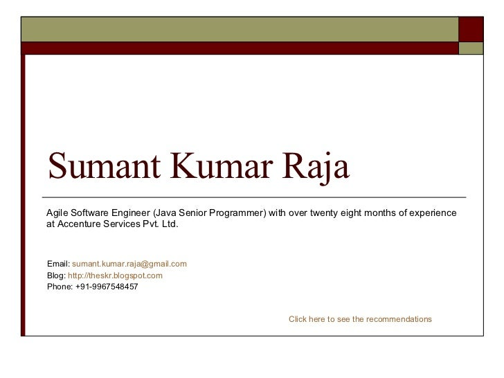 cv of sumant kumar raja