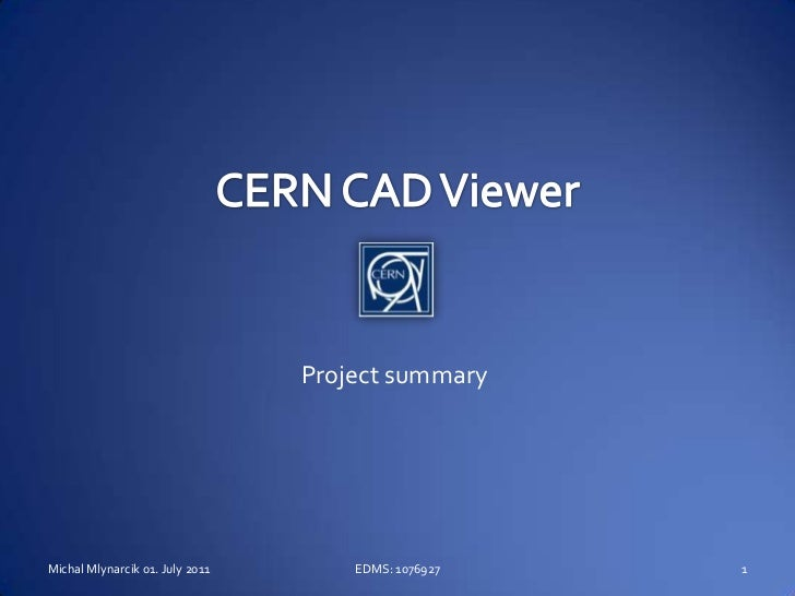 CERN CAD Viewer Project Sumary