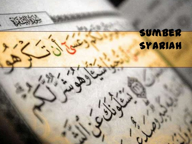 Sumber syariah (muhammad hakim bin mohd shokri)