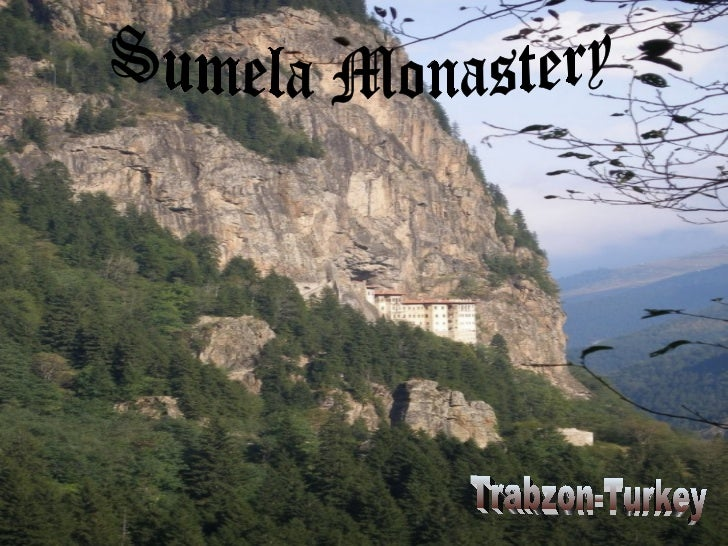 The Sümela Monastery (Greek: Παναγία Σουμελά, Turkish: Sümela Manastırı) stands at the foot of asteep cliff facing the Alt...