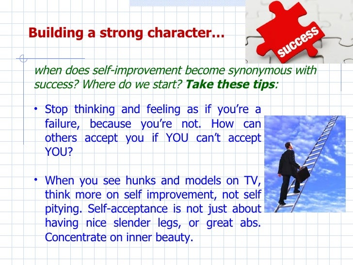 Essay on importance of character building for success in life
