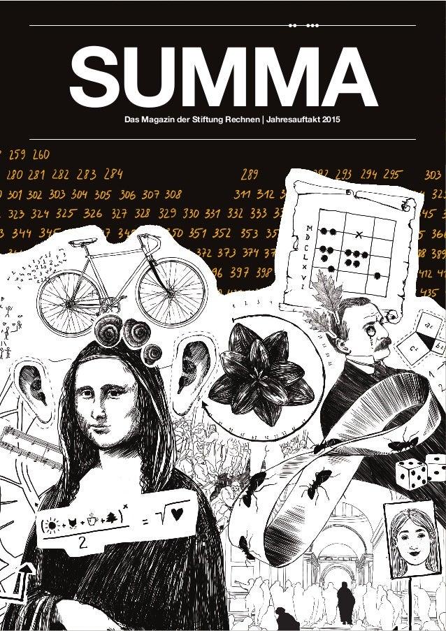 Das Magazin der Stiftung Rechnen | Jahresauftakt 2015 SUMMA