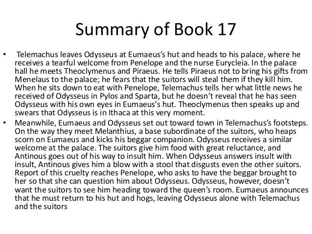 an analysis of telemachus in the story the odyssey A basic level guide to some of the best known and loved works of prose, poetry and drama from ancient greece - the odyssey by homer.