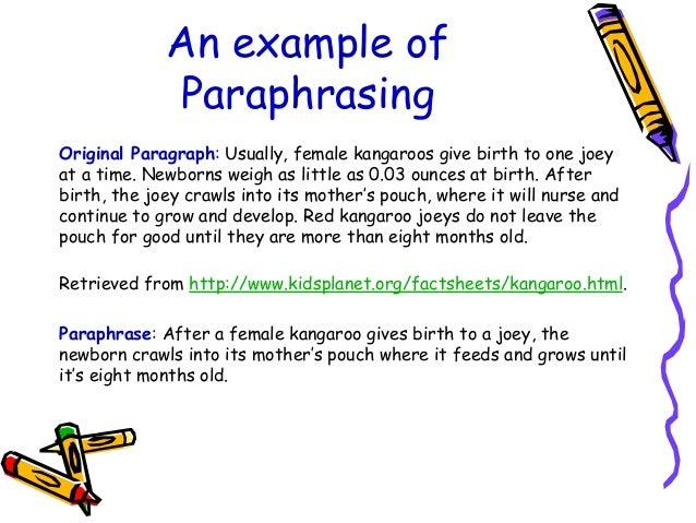 Sentences for paraphrase