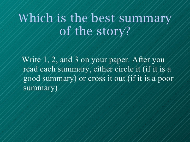 Which is better to write a story?