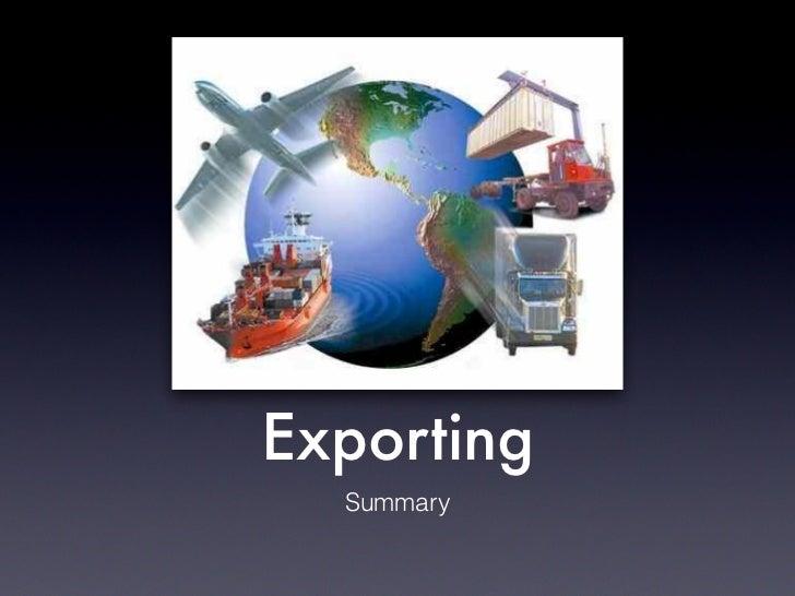 Exporting  Summary