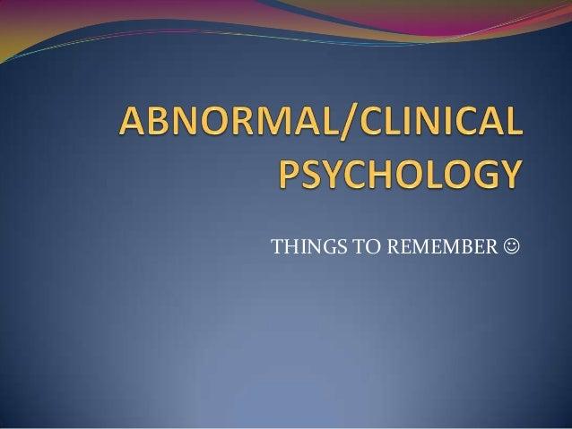Clinical Psychology univ courses