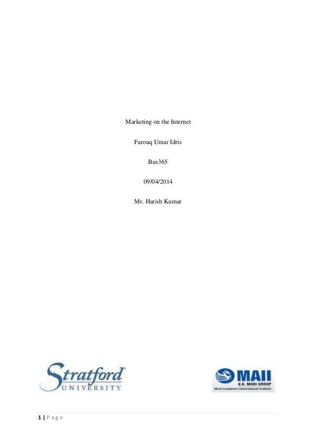 Internet Marketing Summary chapter 1-3