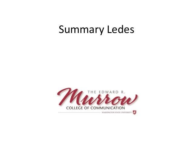 Summary Ledes