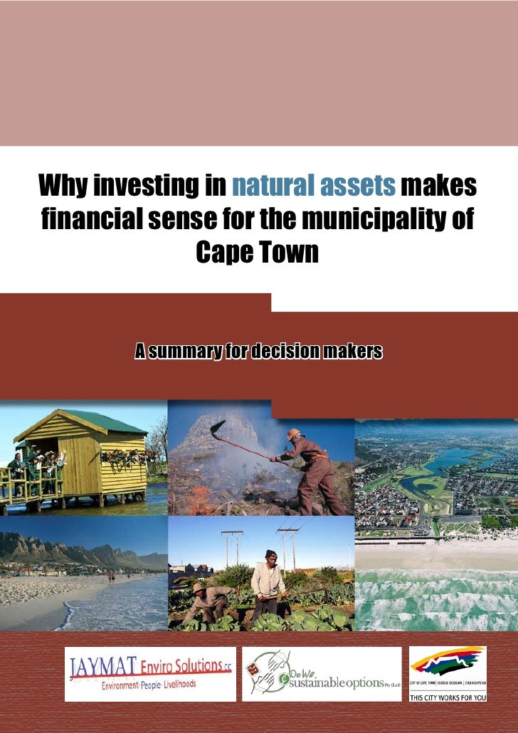 Summary: Investing in Natural Assets. A Business case for the environment in the City of Cape Town
