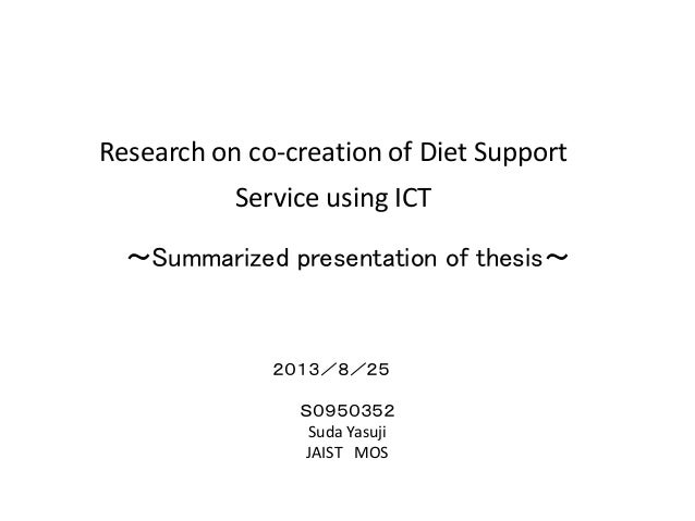 Master thesis ict