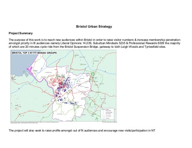 Bristol Urban StrategyProject SummaryThe purpose of this work is to reach new audiences within Bristol in order to raise v...