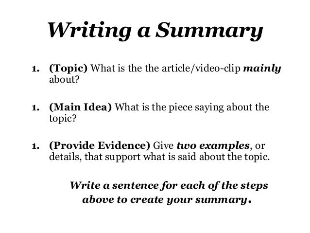 How To Summarize An Essay Or Article