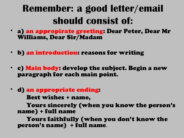 a letter format about the advancements essay
