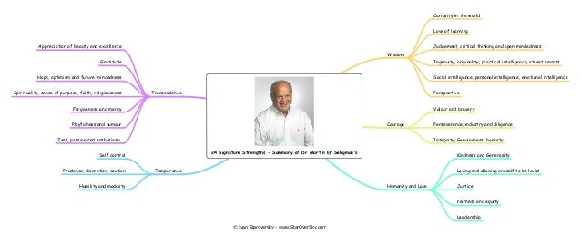 Summary of dr martin seligmans 24 signature strengths