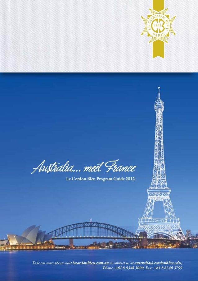 Summary of Le Cordon Bleu Australia Programs