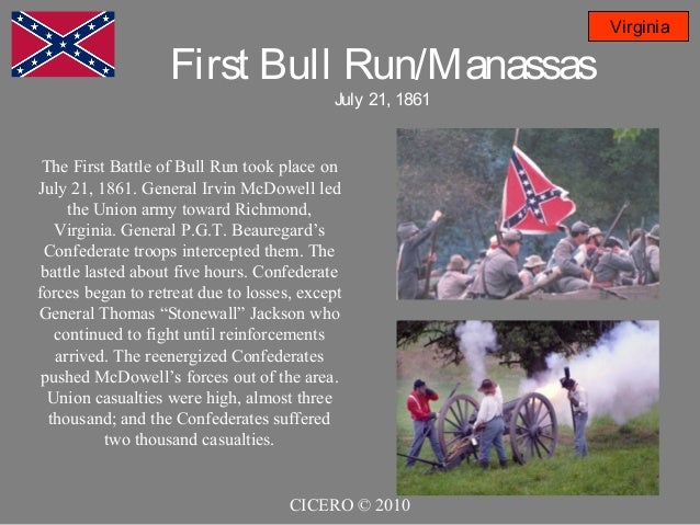 an overview of the second battle of bull run in the civil war of the united states Book your tickets online for manassas national battlefield park this site to see where the civil war first major battle at bull run 234 reviews.