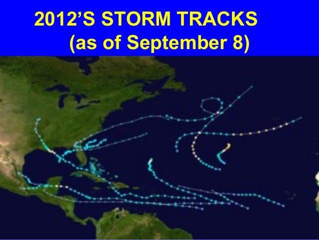 2012'S STORM TRACKS   (as of September 8)