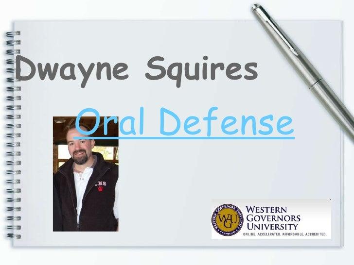 Oral Defense presentation