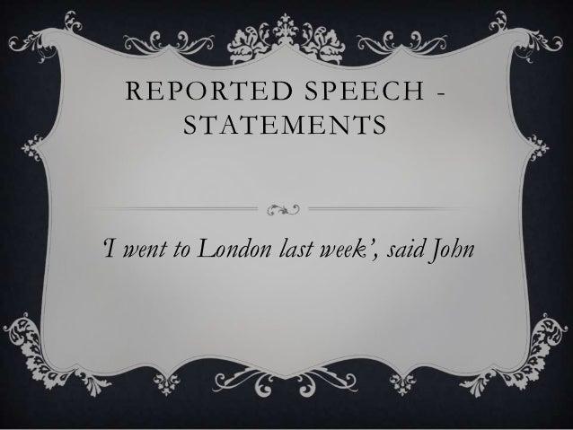 Summary reported speech