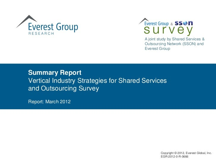 A joint study by Shared Services &                                        Outsourcing Network (SSON) and                  ...
