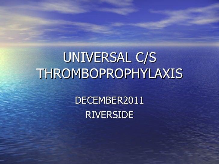 Summary universal c