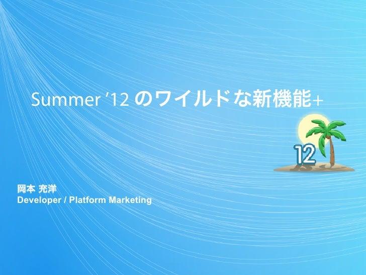Summer '12のワイルドな新機能+