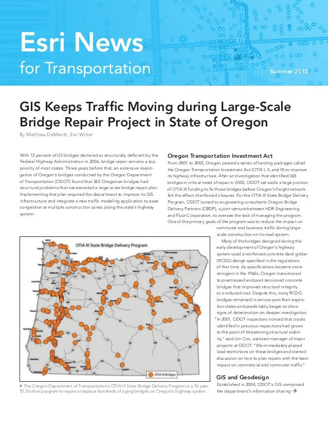 Esri News for Transportation - Summer 2012
