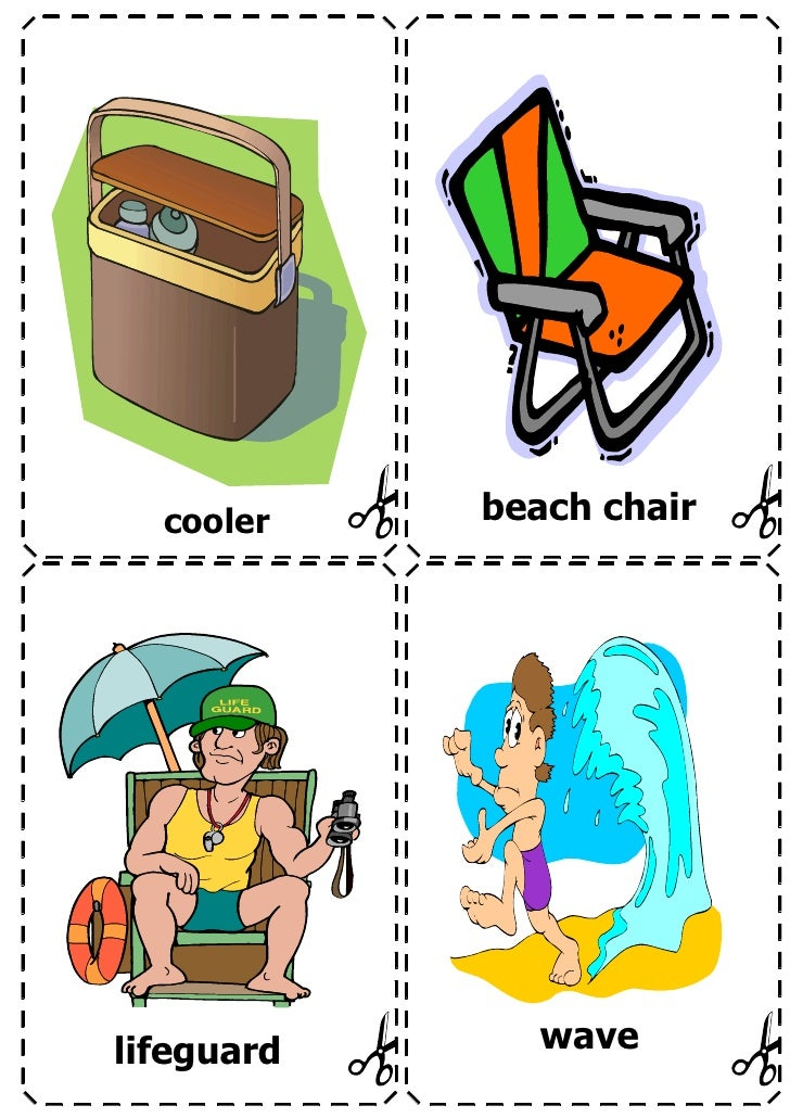 Summer vocabulary flashcards