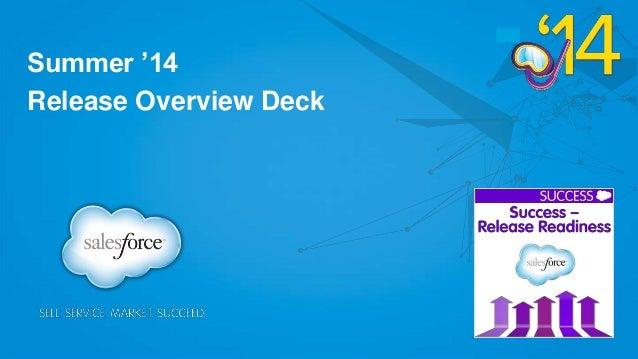 Summer '14 Release Overview Deck