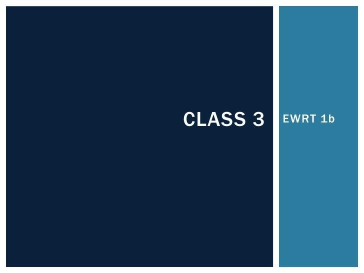Summer 1b class 3