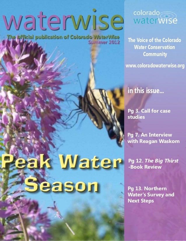 Summer 2012 Colorado Waterwise Newsletter